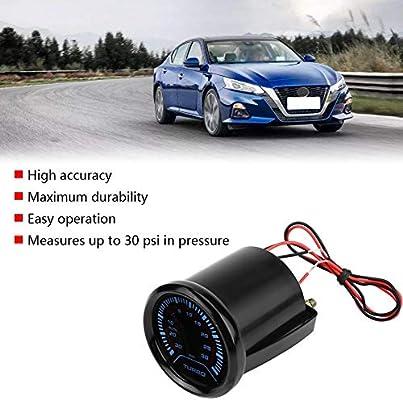 Universal 52mm Car Smoke Dial Face Turbo Boost Turbocharged Pressure Gauge Turbo Boost Gauge