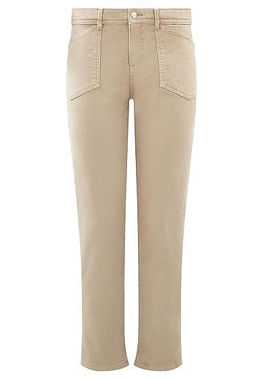 aa5cf5f9939f36 Promod Pantalon Droit Georges Beige 36: Amazon.fr: Vêtements et ...