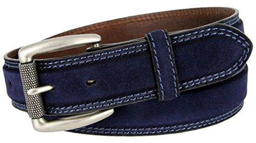[Fullerton Full Grain Suede Casual Jeans Leather Belt 1-3/8