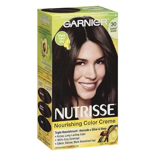 Nutrisse permanent Couleur des cheveux, Darkest Brown 30, 1 ct (pack de 3)