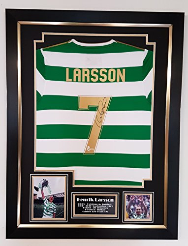 489f8b3b406 Henrik Larsson Signed Celtic Shirt - Hoops Merch