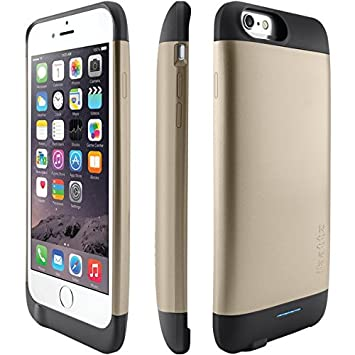 best sneakers e2ff5 58d7c ibattz Refuel Invictus Battery Case for iPhone 6 - Gold