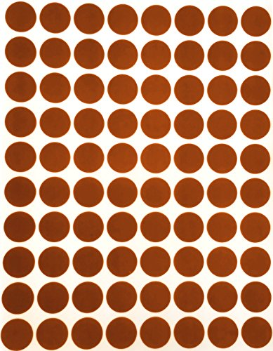 "Color Coding Labels 1/2"" Round - Dot Stickers -- Half inch rounds BROWN sticker -- 1200 pack"