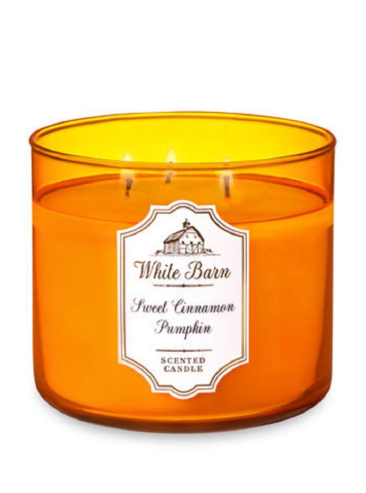 Bath & Body Works White Barn 3-Wick Scented Candle in SWEET CINNAMON PUMPKIN