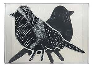 Stampendous NKCFS02 Bird Nstudio Stamp & Stencil Set, Grey