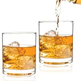 Luxbe - Scotch & Whiskey 11-ounce Glasses, Set of 2-100% Hand Blown Lead-free Crystal - Barware Old Fashioned Cocktail Glass Cups -Elegant, Liquor or Bourbon Tumblers