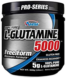 ANSI - L-Glutamine 5000 - Free Form Recovery Formula - Enhanced Recovery (400 Gram)
