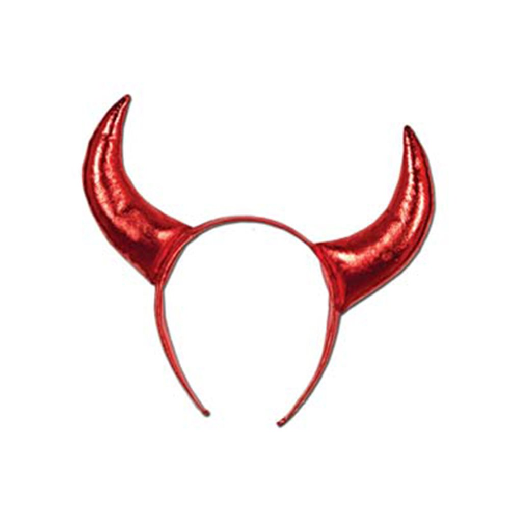Red Devil Horns Headband