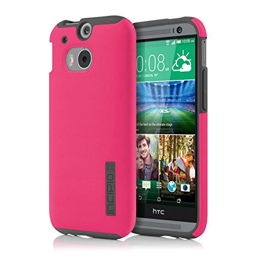 free shipping 9e1b2 bd2b0 Incipio DualPro Case for HTC One (M8) - Carrying Case - Retail Packaging -  Pink/Gray