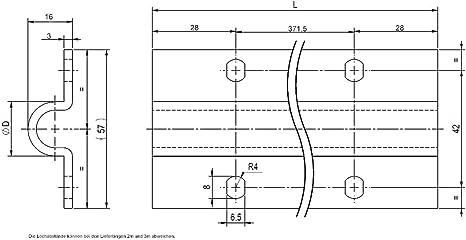 Riel de suelo galvanizado para puertas correderas (2 m, para tornillos de 16 mm de diámetro): Amazon.es: Bricolaje y herramientas