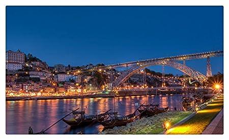 Portugal puentes ríos noche C * * * * porto ciudades muebles ...