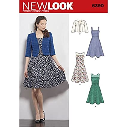 Amazon New Look Sewing Pattern 40 S40 Autumn Collection Cool Full Skirt Pattern