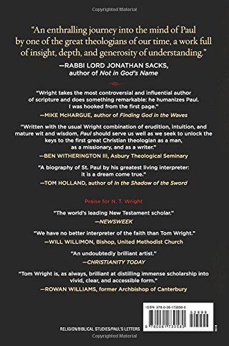 Paul: A Biography: N  T  Wright: 9780061730580: Amazon com: Books