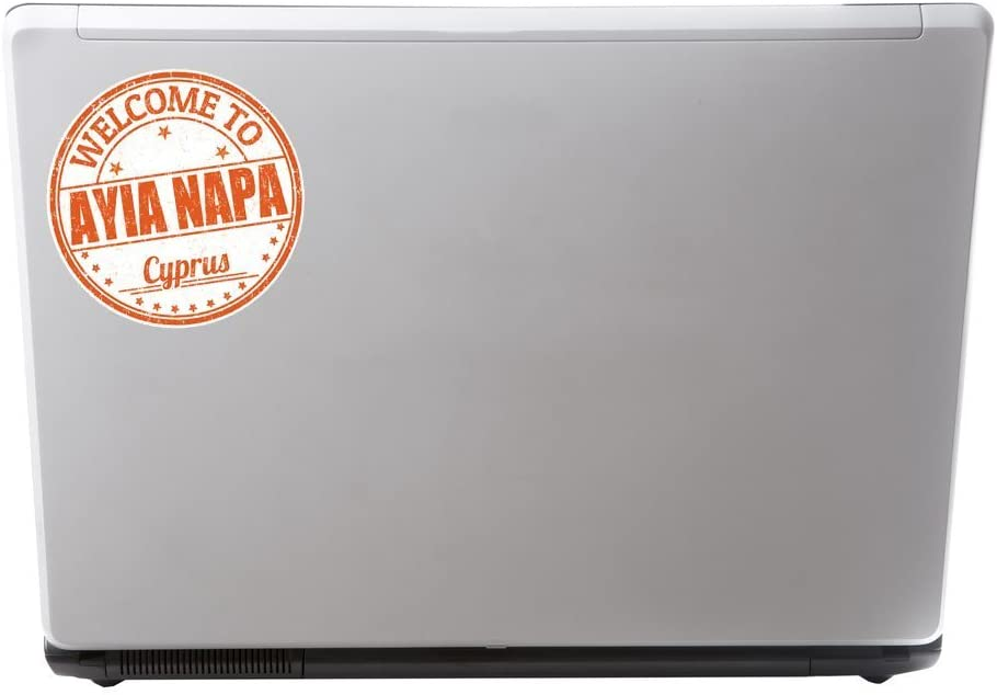 2 x Ayia Napa Cyprus Vinyl Sticker Laptop Travel Luggage Car #6753