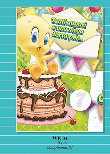 Tarjeta Felicitación cumpleaños con rueda de 1 a 9 años ...