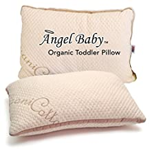 Angel Baby ORGANIC Toddler Pillow - CertiPUR-US TOXIN FREE that Keep Kids COOL, BEST Neck Support - USA/Oeko-Tex Certified Cotton Cover, Hypoallergenic 13x18 (case sold separately)