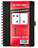 Action Day Weekly Planner 2015 - Size 6x8 - Layout Designed to Get Things Done - (Daily Calendar (+) Day Planner (+) Weekly Diary (+) Monthly Planner (+) Goals Journal (+) Datebook (+) To-do List)