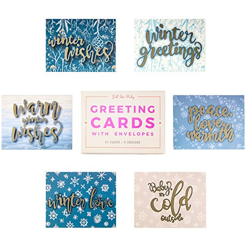 Greeting Cards w/ Envelopes (30 ct) Bulk Christmas Greeting Cards. Assorted Designs for Christmas Winter Holiday Greetings. Blank Cards Fun for Seasons Greetings! 4.25 x 5.5 in (A2) Spread X-mas Joy! Photo #6