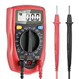 Digital Multimeter, Abask Professional Digital Multimeter Auto-ranging Measuring Volt Amp Ohm Meter with Diode and Continuity Test Scanners Home Use Electronic Hand Tools with Backlight LCD Display