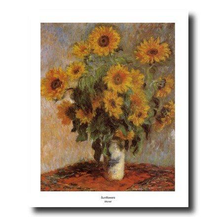 - Claude Monet Sunflowers Flower Vase Contemporary Picture Art Print