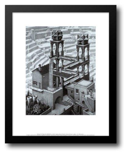 Waterfall 15x18 Framed Art Print by Escher, M.C.