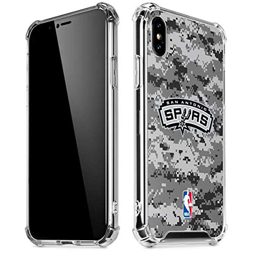 Skinit San Antonio Spurs Digi Camo iPhone X/XS Clear Case - Officially Licensed NBA Phone Case Clear - Transparent iPhone X/XS Cover