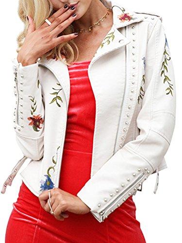 Womens White Leather Jacket - 9