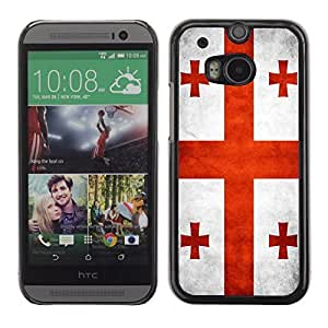 Shell-Star ( National Flag Series-Georgia ) Snap On Hard Protective Case For All New HTC One (M8)