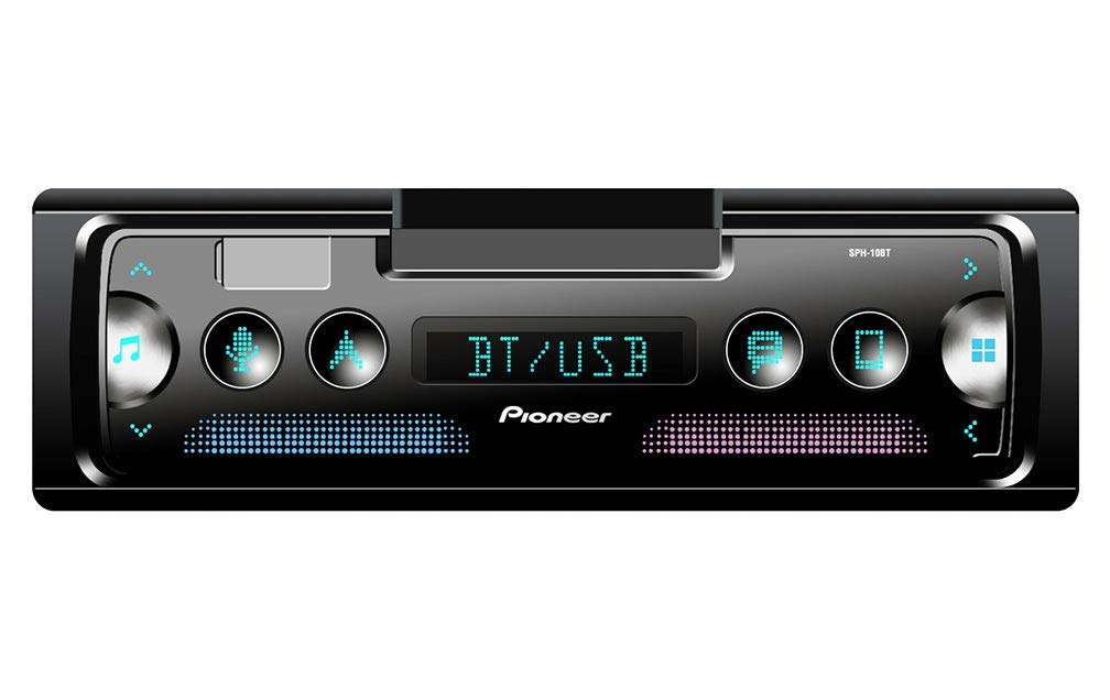 Pioneer SPH10BT Single-DIN in-Dash Mechless Smart Sync Receiver with Bluetooth by PIONEER