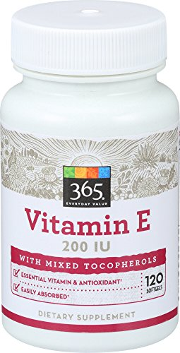 365 Everyday Value, Vitamin E 200 IU with Mixed Tocopherols, 120 ct