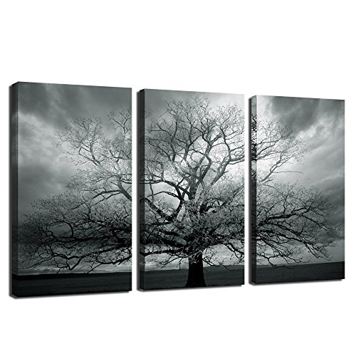 Winter Large Tree Photography Print,abstract Canvas Artwork,stretched and Framed,landscape Canvas Wall Art,each Panel 12x24inch Wall Picture Ready to Hang (Kitchen Framed Wall Art)