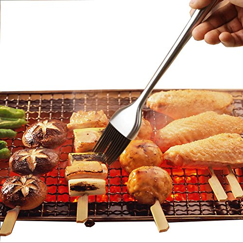 Gp life bbq grill basting brush and pastry brush stainless for Life size kitchen set