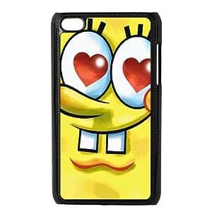 [Sponge Bob Square Pants Series] Ipod Touch 4 Case Sponge Bob Square Pants so Cute, Bloomingbluerose - Black