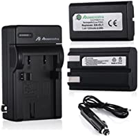 Powerextra 2 Pack Replacement Battery and Charger for Nikon EN-EL1 and Nikon Cooipix 4300 4500 4800 5400 5700 775 5000 8700 880 885 995 E880 Digital Cameras