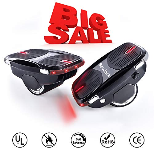 SeoJack Electric Hovershoes Hoverboard with LED Lights, 250W Dual Motor Newest Self Balancing Scooter for Kids and Adults, Easy to Operate