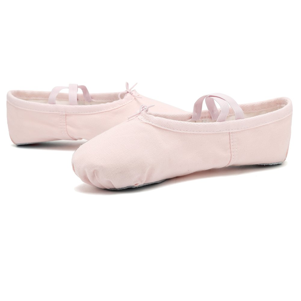 Pink CIOR Girls Ballet Slippers Canvas Ballet Shoes Dance Shoes Yoga Shoes Flats Toddler//Little Kid//Big Kid//Women//Boy