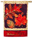 Cheap Evergreen Brilliant Autumn Suede House Flag, 29 x 43 inches