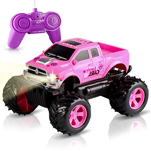 Remote Control Car Toy -Princess Style RC Truck & Jeep with Off Road Grip Tires for Girls Ages 5 Year + (Pink) (All Terrain Rc Cars Toys R Us)
