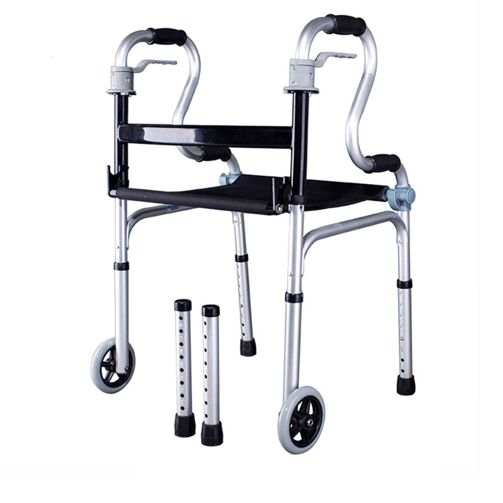 XXHDEE Elderly Walker Assisted Rehabilitation Equipment Pulley/No Pulley Standing Armrest Walker Walking aids (Size : Pulley) by XXHDEE