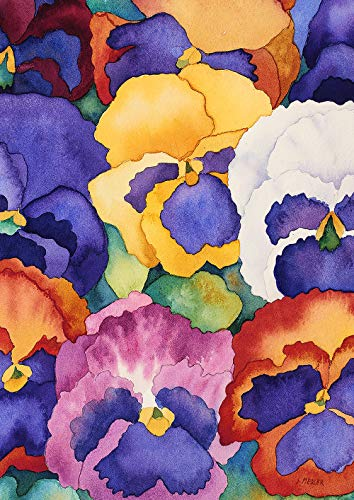 Toland Home Garden 1012353 Bouquet of Pansies 28 x 40 Inch Decorative, House Flag (28