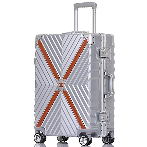 large capacity retro aluminum frame anti-collision universal wheel student boarding chassis ABS//PC TSA combination lock MING REN Luggage Sets Trolley case 2 colors 3 sizes optional Multi-functi