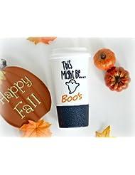 Halloween Mug, This Might Be Boo's Mug, Boo Mug, Ghost mug, Happy Halloween Mug, Funny Coffee Mug, Glitter Coffee... sale 2017