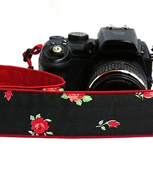 Rosas correa de cámara. Rojo. Acolchado Cámara correa. Canon Nikon ...