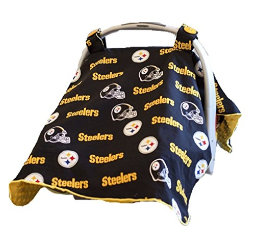 Carseat Canopy (NFL Pittsburgh Steelers) Baby Infant Car Seat Cover at SteelerMania
