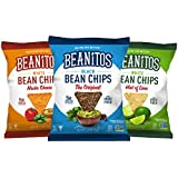 Beanitos Variety Chip Pack of Plant Based Protein Good Source Fiber Gluten Free Non-GMO Vegan Corn Free Tortilla Chip Snack 1.2 Ounce, 24 Count