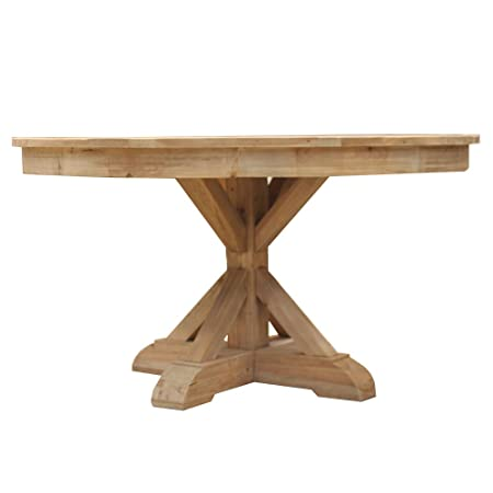 Mesa redonda de pie madera reciclada-mando AuthentiQ natural ...