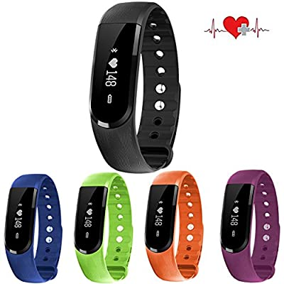 Kinvida Waterproof Smart Band Calorie Health Activity Fitness Tracker Pedometer Wristband Bluetooth 4.0 for Android and iOS