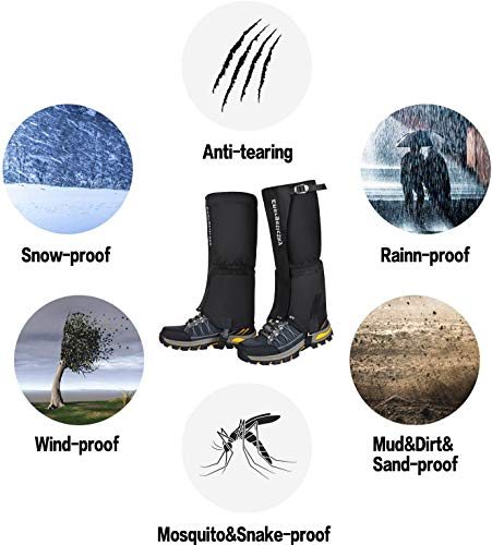 EnergeticSky-Leg-Gaiters-Waterproof-Snow-Boot-Gaiters-for-Men-and-WomenGaiters-for-HikingSnowshoeingHuntingClimbingRunning1000D-Anti-Tear-Oxford-Cloth-Hiking-Gaiters-6