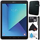 Samsung 32GB Galaxy Tab S3 9.7'' Wi-Fi Tablet (Silver) SM-T820NZSAXAR + Universal Stylus for Tablets + Tablet Neoprene Sleeve 10.1'' Case (Black) + 32GB Class 10 Micro SD Memory Card Bundle