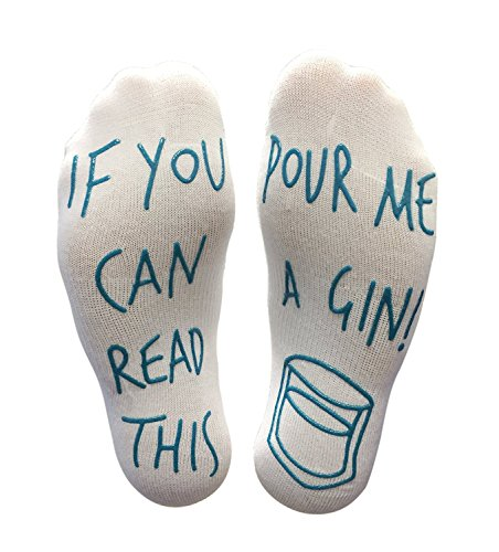 If You Can Read This Pour Me A Gin Funny Socks - Perfect Joke Novelty Gift For Men & Women